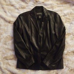 Banana Republic Black Leather Jacket 8